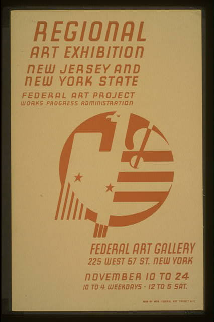 Regional art exhibition - New Jersey and New York State Federal Art Project Works Progress Administration - Federal Art Gallery.