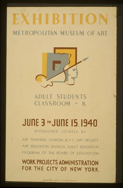 Exhibition - Metropolitan Museum of Art Adult students classroom - K.