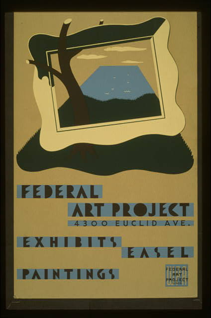 Federal Art Project, 4300 Euclid Ave., exhibits easel paintings