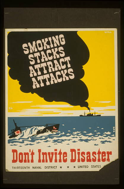 Smoking stacks attract attacks Don't invite disaster /