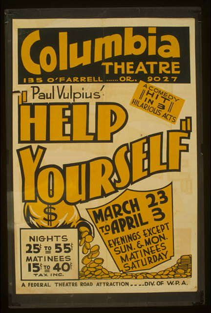 "Paul Vulpius' ""Help yourself"" A comedy hit in 3 hilarious acts."