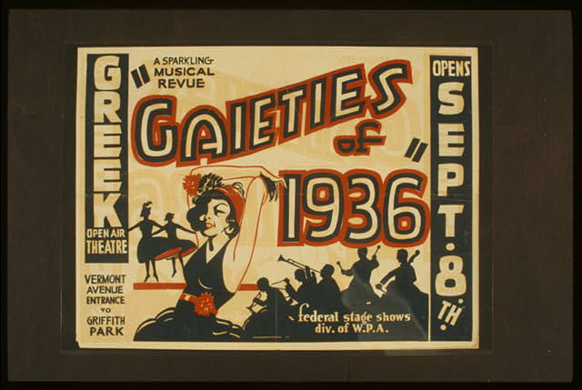 "A sparkling musical revue ""Gaieties of 1936"""