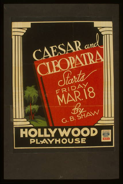 Caesar and Cleopatra, by G.B. Shaw ... Hollywood Playhouse