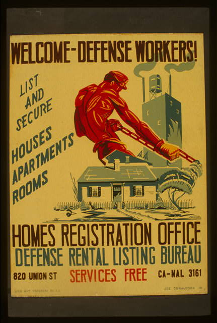 Welcome - defense workers! Homes registration office : Defense rental listing bureau /