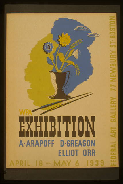WPA exhibition A. Arapoff, D. Greason, Elliot, Orr.