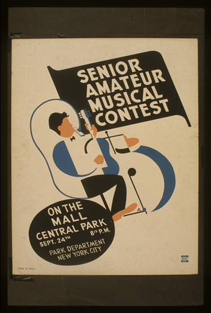 Senior amateur musical contest On the mall, Central Park /