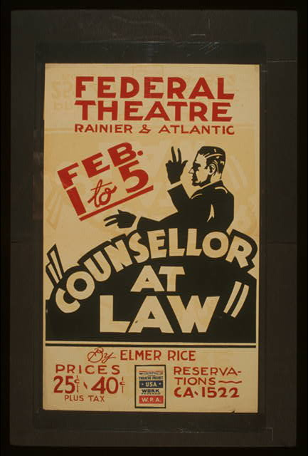 """Counsellor at law"" by Elmer Rice"