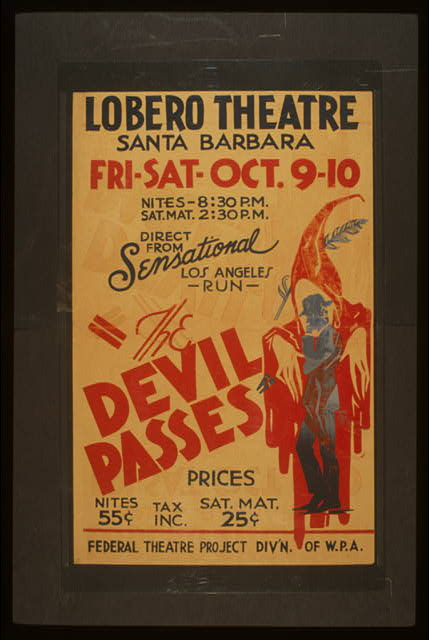 """The devil passes"" Direct from sensational Los Angeles run."