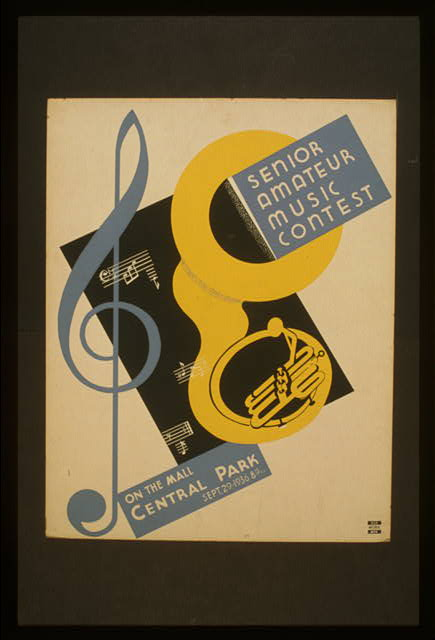 Senior amateur music contest On the mall, Central Park : Sept. 29 - 1936 8:15 p.m.