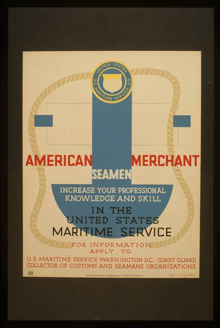 American Merchant Seamen increase your professional knowledge and skill in the United States Maritime Service