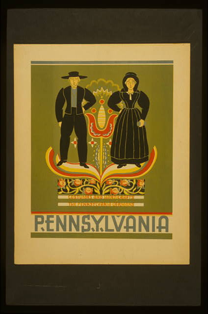 Pennsylvania Costumes and handicrafts, the Pennsylvania Germans.