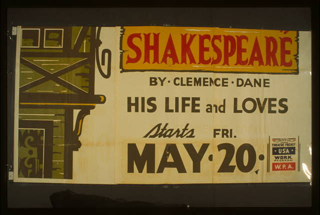 "Hollywood Playhouse [presents] ""Will Shakespeare"" by Clemence Dane His life and loves."