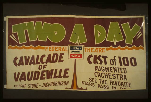 """Two a day"" A cavalcade of vaudeville by Gene Stone and Jack Robinson : Augmented orchestra : See the favorite stars pass in revue."