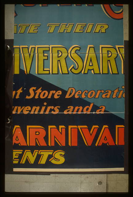 This week the big store Siegel-Cooper Co. celebrate their first anniversary with magnificent store decorations [and] monumental bargain carnival in all departments Meet me at the fountain.