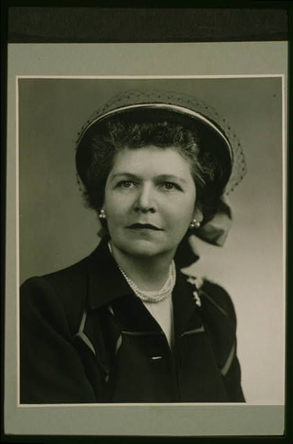 [Mrs. Georgia Neese Clark, head-and-shoulders portrait, facing slightly left]