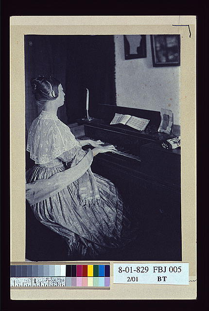 At the spinet