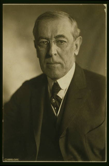 [Woodrow Wilson, head-and-shoulders portrait, facing front]