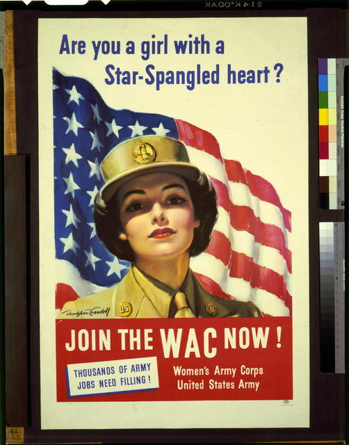 Are you a girl with star-spangled heart?--Join the WAC now!--Thousands of Army jobs need filling!