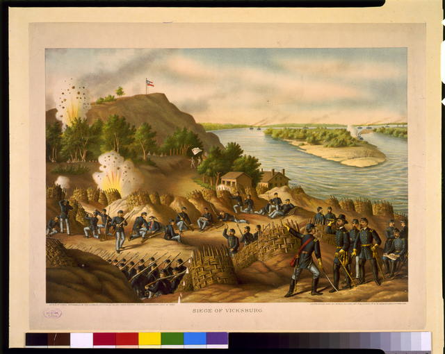 Siege of Vicksburg--13, 15, &amp; 17 Corps, Commanded by Gen. U.S. Grant, assisted by the Navy under Admiral Porter--Surrender, July 4, 1863