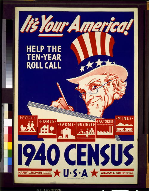 It's your America! Help the ten-year roll call--1940 census, U.S.A.