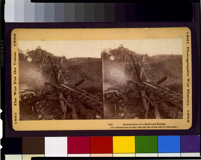 Destruction of a railroad bridge