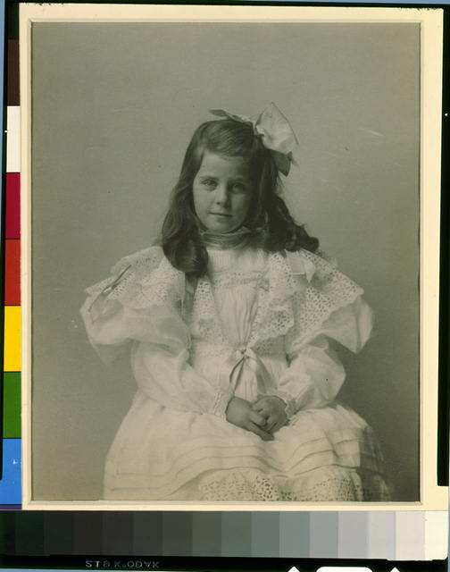 [Miss Martha Cameron, three-quarter length portrait, seated, facing front]