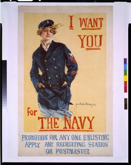 I Want You Navy Poster