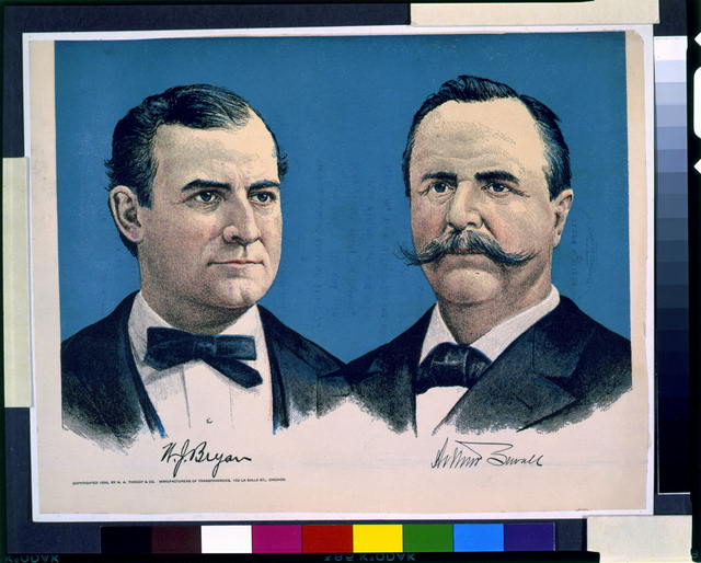 [William J. Bryan and Arthur Sewall, head-and-shoulders portraits]