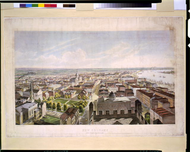 New Orleans from St. Patrick's Church 1852
