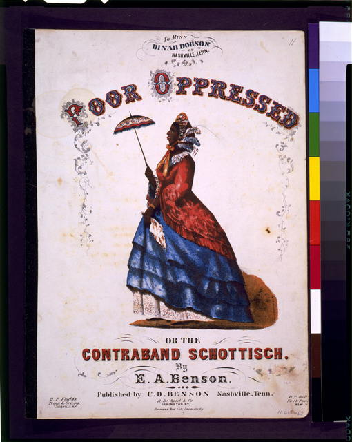 Poor oppressed or the contraband Schottisch, by E.A. Benson