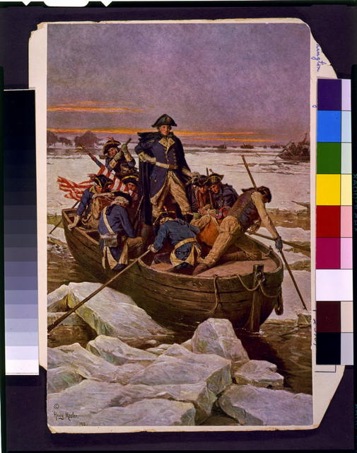 [George Washington crossing the Delaware River]