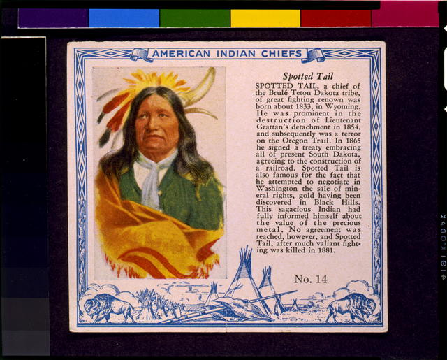 American Indian chiefs. Spotted Tail