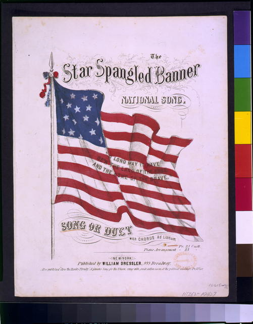The Star spangled banner : national song