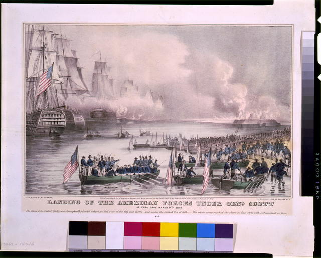 Landing of the American forces under Genl. Scott, at Vera Cruz, March 9th, 1847