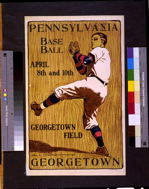 Pennsylvania [vs.] Georgetown, base ball, April 8th and 10th--Georgetown field