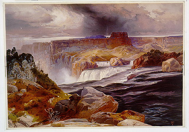 Great Falls of Snake River, Idaho territory
