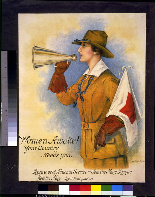 Women awake! Your country needs you--Learn to be of national service - join the Navy League--Help the Navy - local headquarters