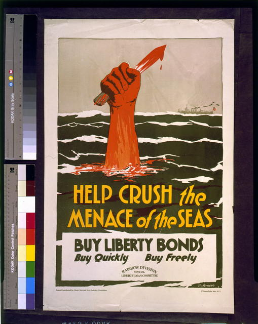 Help crush the menace of the seas - buy liberty bonds