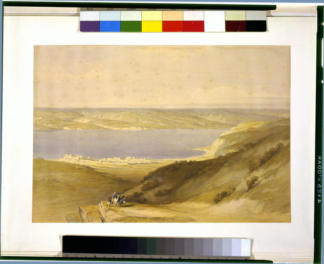 Sea of Galilee or Genazareth looking towards Bashan April 21st 1839