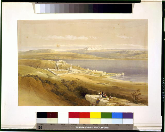 City of Tibarias (i.e., Tiberias) on the Sea of Galilee April 22nd 1839