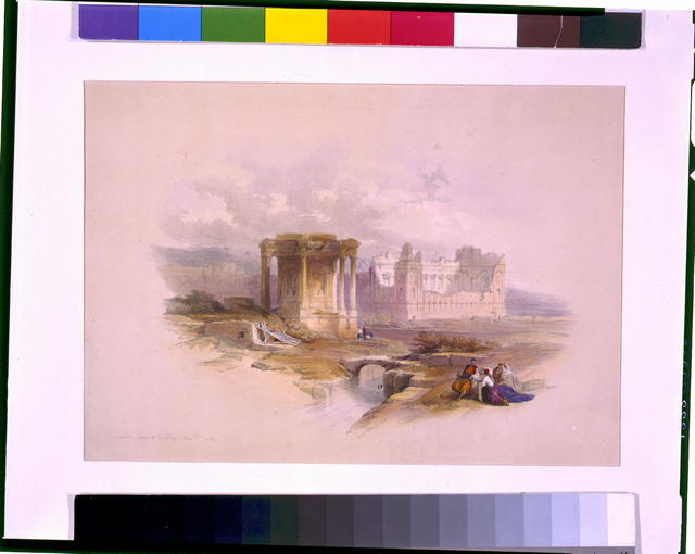 Circular temple at Baalbec May 7th 1839