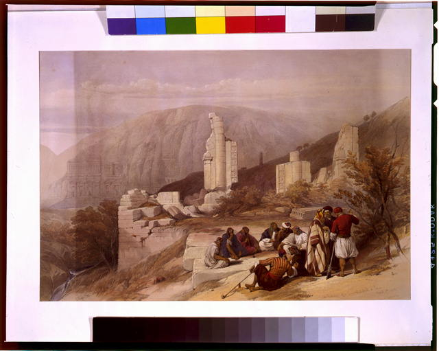Remains of a triumphal arch at Petra March 8th 1839