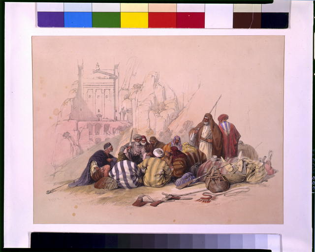Conference of Arabs at Wady Moosa, Petra March 6th 1839