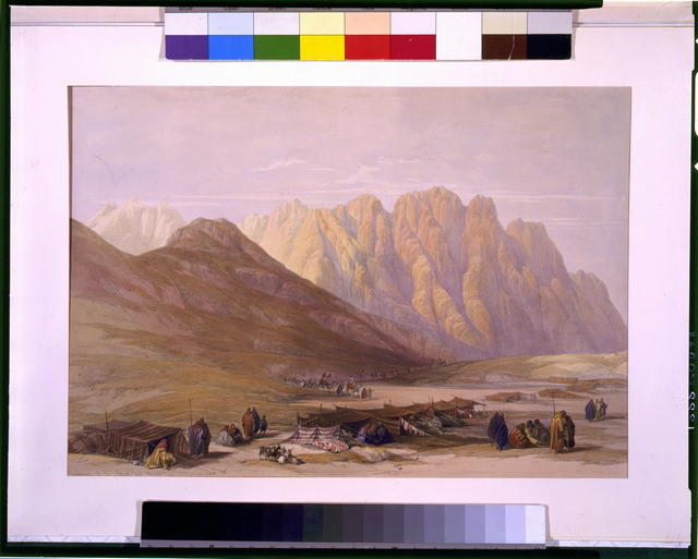 Encampment of the Aulad Sa'id Mount Sinai Feby 18th 1839