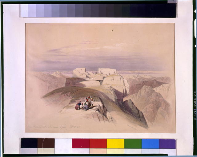 Christian & Mohamedan chapels on the Summit of Sinai Feby 20th 1839
