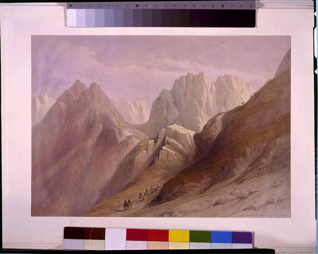 Ascent of the lower range of Sinai February 18th 1839
