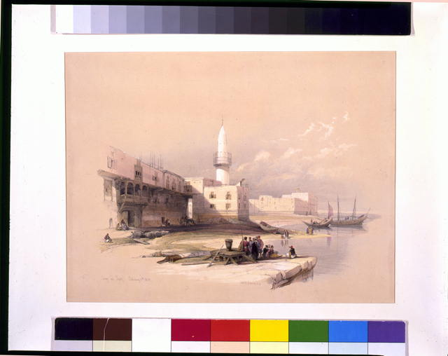 Quay at Suez Febrary 11th 1839