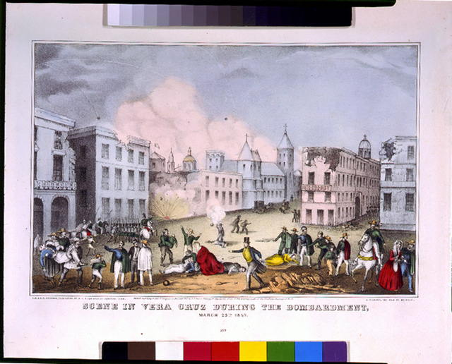 Scene in Vera Cruz during the bombardment, March 25, 1847