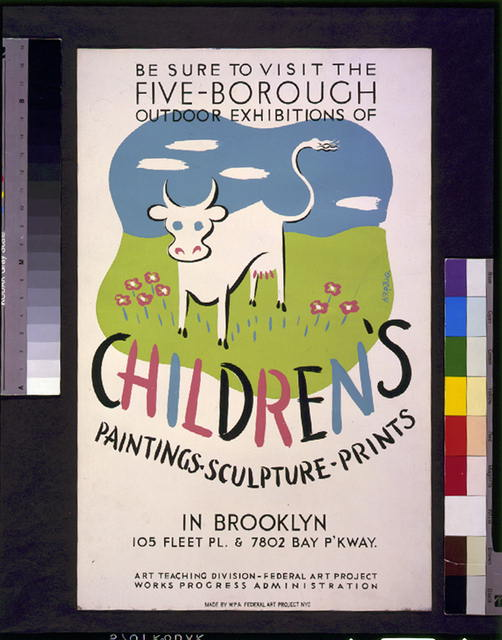 Be sure to visit the five-borough outdoor exhibitions of children's paintings, sculpture, prints, in Brooklyn