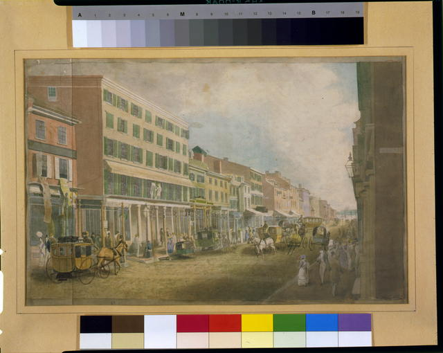 [Southwest view of Sanderson&#39;s Franklin House, Chestnut Street, Philadelphia]